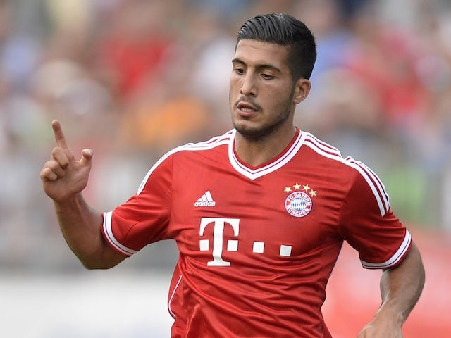Bayern Munich's Emre Can in action against Brescia on July 9, 2013