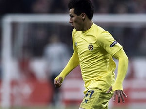 Villarreal's Hernan Perez in action on November 22, 2011