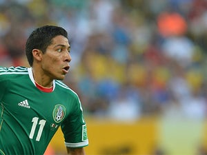 Mexico's Javier Aquino in action during the Confederations Cup against Italy on June 16, 2013