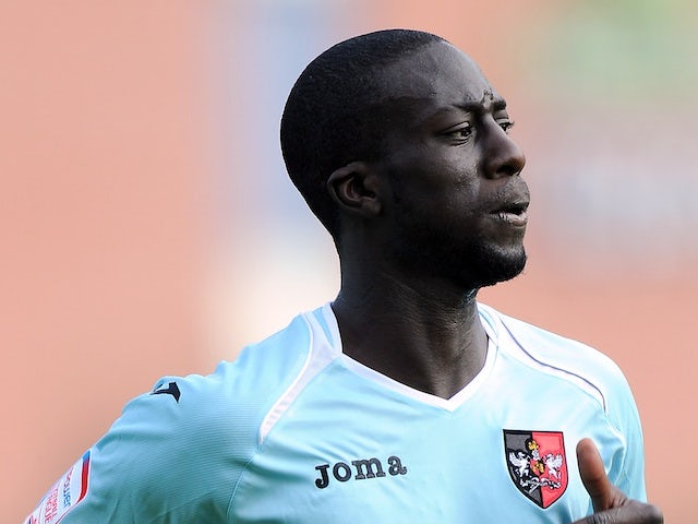Exeter City's Kevin Amankwaah in action on September 8, 2012