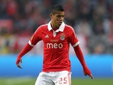 Benfica's Lorenzo Melgarejo during the Europa League final against Chelsea on May 15, 2013