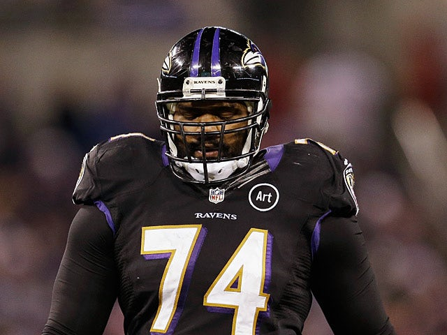 Baltimore Ravens' Michael Oher in action on December 23, 2012