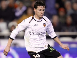 Valencia's Pablo Daniel Piatti in action during the match against Levante on January 19, 2012