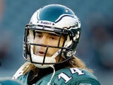 Eagles' Riley Cooper in action against the Jets on December 18, 2011