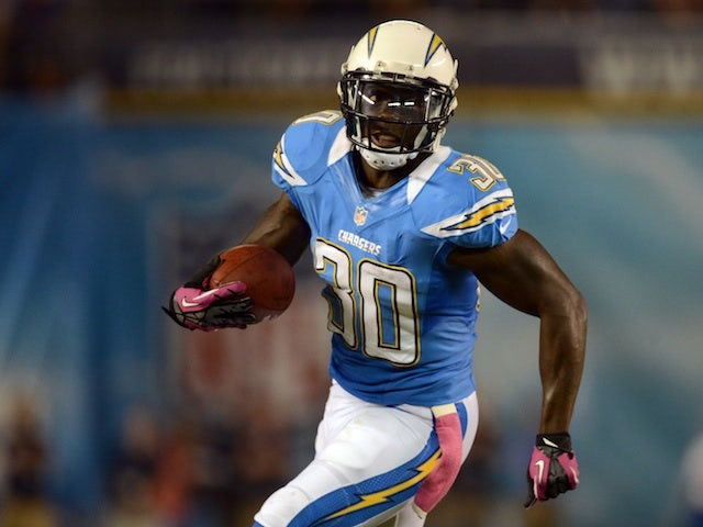 Chargers' Ronnie Brown in action against Denver on October 15, 2012