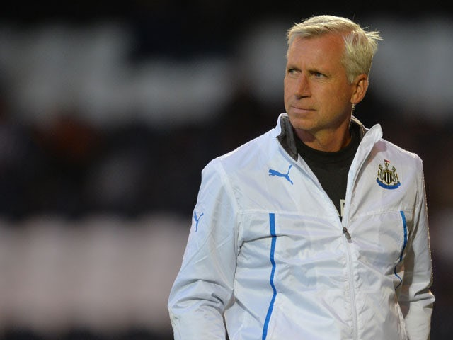 Newcastle manger Alan Pardew during the Pre Season Friendly match between St Mirren and Newcastle United at St Mirren Park on July 30, 2013