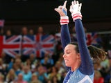 British gymnast Beth Tweddle competing in the Olympics on August 6, 2012