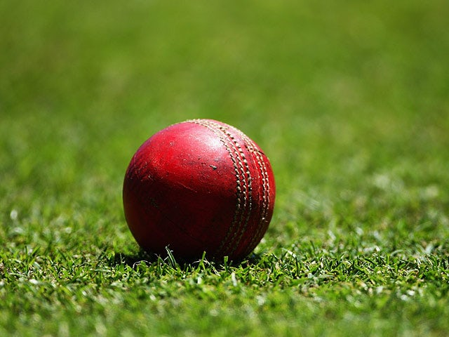 A cricket ball on the field