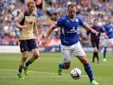 Leicester's Danny Drinkwater in action during the match against Leeds on August 11, 2013