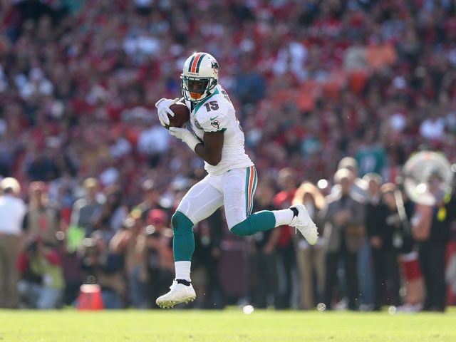 Davone Bess of the Miami Dolphins in action against the San Francisco 49ers on December 9, 2012