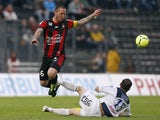 Nice's French midfielder Didier Digard
