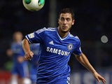 Chelsea's Eden Hazard in action during a friendly match against Indonesia All-Stars on July 25, 2013