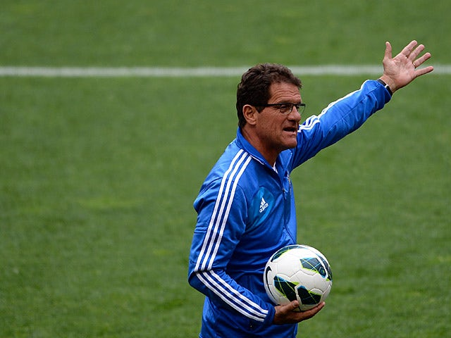Russia manager Fabio Capello during a training session on June 6, 2013