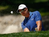 Sweden's Henrik Stenson practicing at the US PGA Championship on August 5, 2013