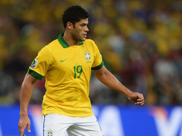 Hulk of Brazil in action during the FIFA Confederations Cup Brazil 2013 Final match between Brazil and Spain at Maracana on June 30, 2013