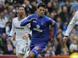Getate's Jaime Gavilan in action against Real Madrid on January 27, 2013