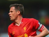 Liverpool's Jamie Carragher in action against Queens Park Rangers on May 19, 2013