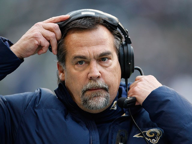 Fisher head coach of the St. Louis Rams in the second half against the Seattle Seahawks on December 30, 2012
