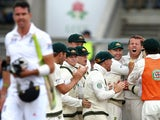 England's Kevin Pietersen walks off after being given out off the bowling of Australia's Peter Siddle