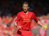 Liverpool's Lucas in action against Queens Park Rangers on May 19, 2013