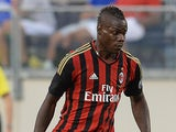 AC Milan's Mario Balotelli in action during a friendly match against Chelsea on August 4, 2013