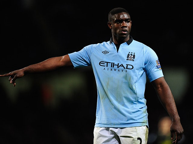 Manchester City's Micah Richards in action during the match against Wigan on April 17, 2013