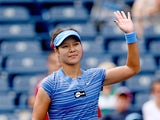 Na Li celebrates her win over Ana Ivanovic during the Rogers Cup on August 8, 2013
