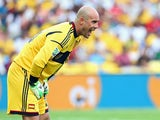 Pepe Reina of Spain in action during the FIFA Confederations Cup Brazil 2013 Group B match between Spain and Tahiti on June 20, 2013