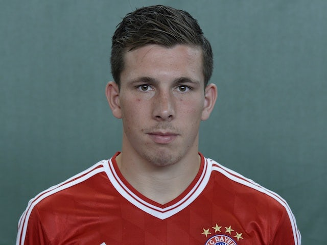 Bayern's Pierre Hojbjerg at photocall on July 13, 2013