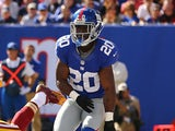 New York Giants' Prince Amukamara in action on October 21, 2012