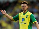 Norwich striker Ricky Van Wolfswinkel in action against Real Sociedad on August 6, 2013
