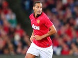 Rio Ferdinand of Manchester United controls the ball during the match between the A-League All-Stars and Manchester United on July 20, 2013