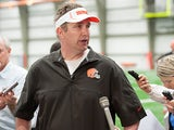 Cleveland Browns head coach Rob Chudzinski during an interview on May 10, 2013