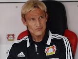 Bayer Leverkusen head coach Sami Hyypia prior to kick-off against Freiburg on August 10, 2013
