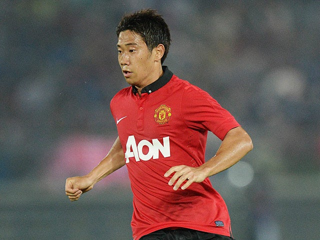 Manchester United's Shinji Kagawa in action during a friendly match against Yokohama F.Marinos on July 23, 2013