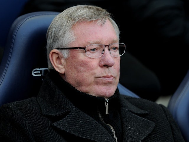United boss Alex Ferguson on the sidelines during a game with Man City on April 30, 2012