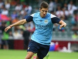 Manchester City's Stevan Jovetic during a training session on July 23, 2013