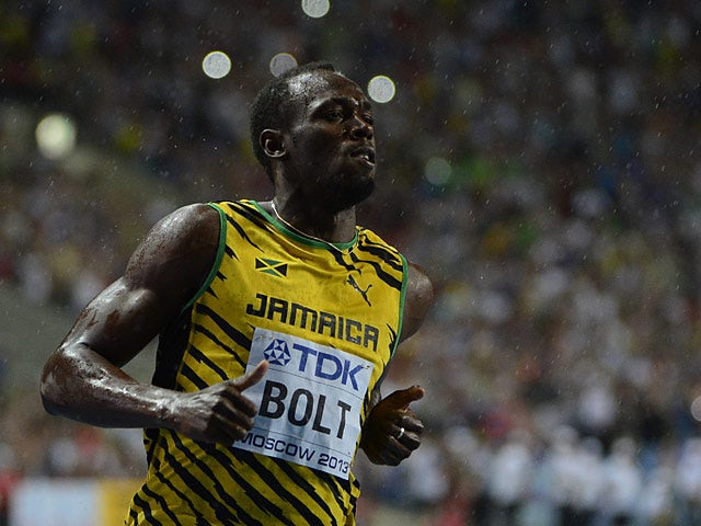 Jamaica's Usain Bolt wins the men's 100m final at the IAAF World Championships in Moscow on August 11, 2013
