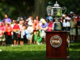 The Wanamaker Trophy ahead of the US PGA Championship on August 8, 2013