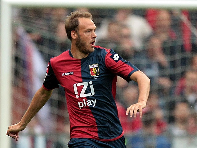 Genoa's Andreas Granqvist in action against Pescara on May 5, 2013