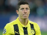 Dortmund's Robert Lewandowski during the Champions League final against Bayern Munich on May 25, 2013