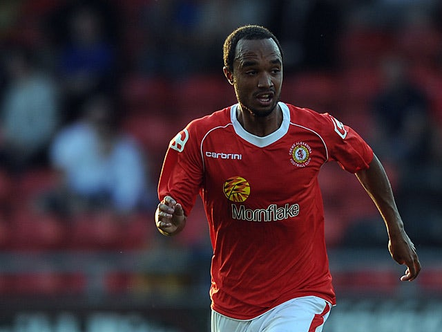 Crewe's Byron Moore in action against Blackburn during a friendly match on July 16, 2013