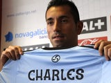 Charles Dias de Oliveira at his Celta Vigo unveiling on June 27, 2013
