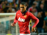 Manchester United's Chris Smalling in action against AIK during a friendly match on August 6, 2013