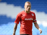 Craig Bellamy of Cardiff City in action during the Pre Season Friendly match between Cardiff City and Athletic Club de Bilbao at the Cardiff City Stadium on August 10, 2013