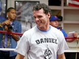 Daniel Geale of Australia works out during a training session for his middleweight bout against Darren Barker of England at the Mendez Boxing Gym on August 12, 2013