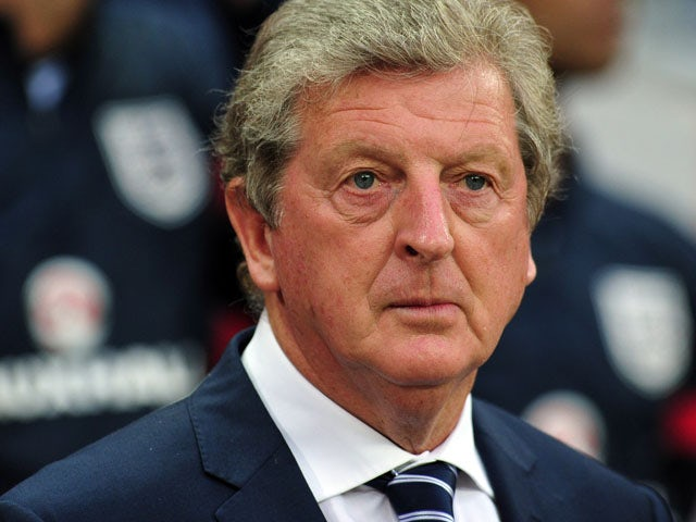England manager Roy Hodgson looks on at the start of the international friendly football match between England and Scotland on August 14, 2013