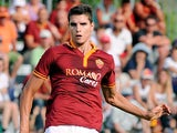 Roma's Erik Lamela in action against Bursaspor Kulubu during a friendly match on July 21, 2013