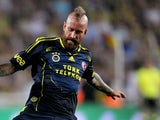 Fenerbahce's Raul Meireles in action against PSV during a friendly match on July 24, 2013