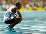 James Dasaolu of Great Britain looks on after competing in the Men's 100 metres Final during Day Two of the 14th IAAF World Athletics Championships Moscow 2013 at Luzhniki Stadium on August 11, 2013